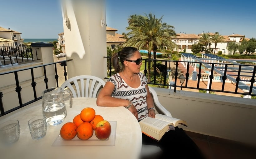 Terrace Apartamentos Leo San Bruno Isla Canela