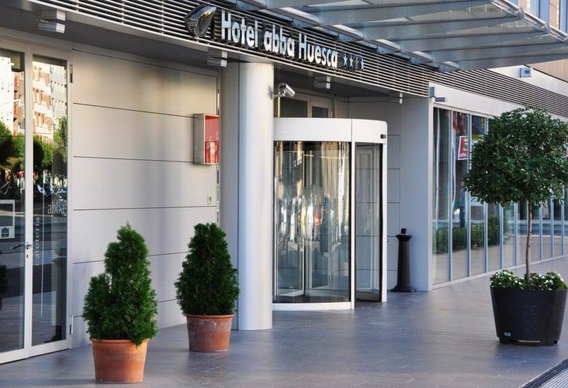 Outside Hotel Abba Huesca