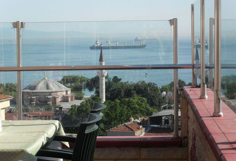 Outside Stone Hotel Istanbul