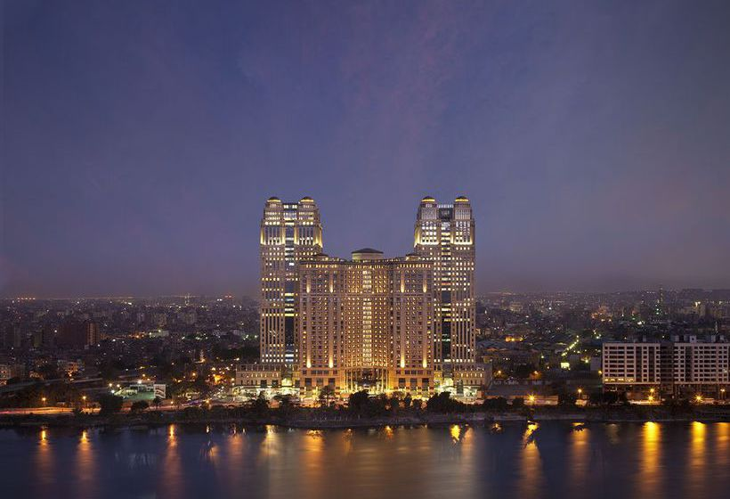 Outside Hotel Fairmont Nile City Cairo