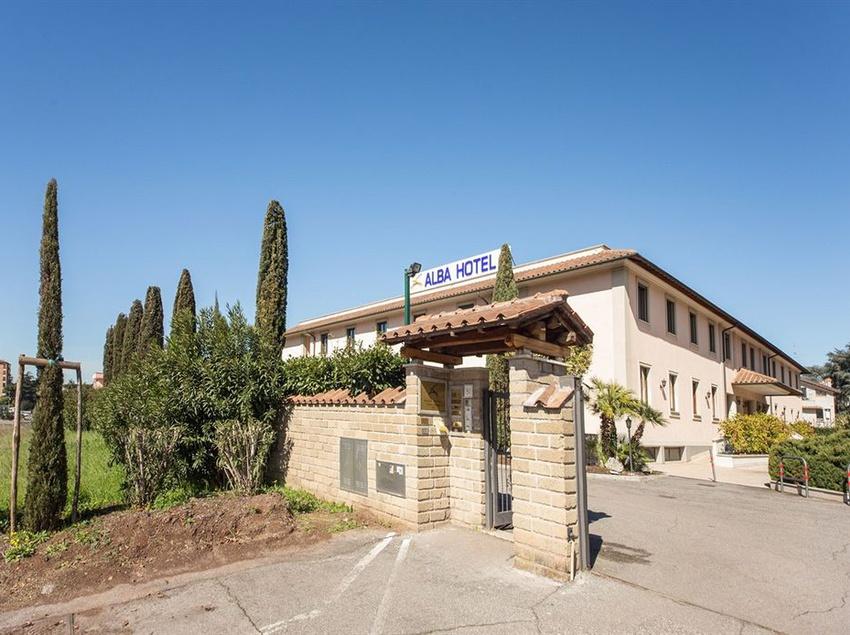 Outside Alba Hotel Torre Maura Rome