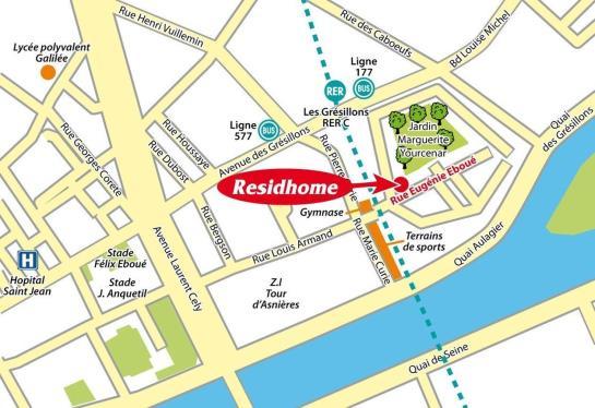 Appart'hòtel Residhome Asnieres Asnieres sur Seine