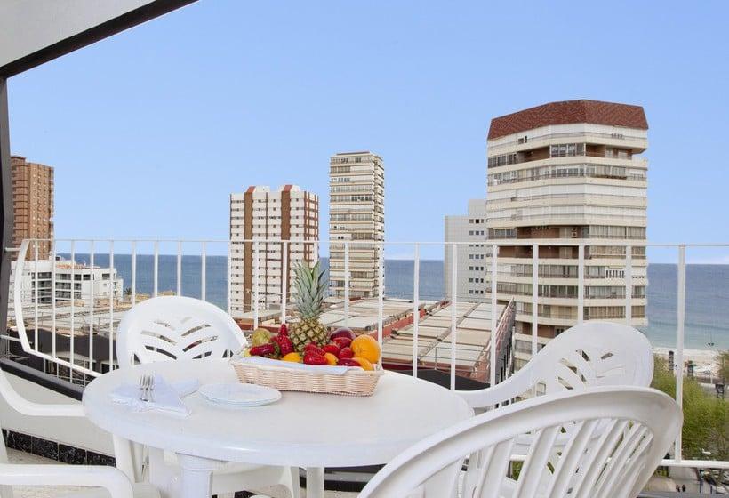 Terraza Apartamentos Torre Belroy Benidorm